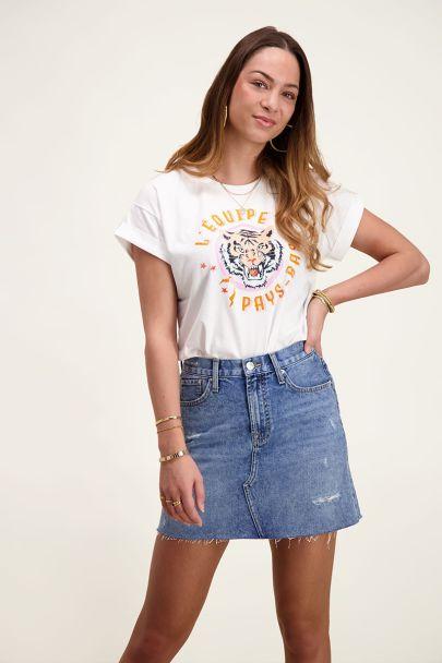 Wit t-shirt tijger