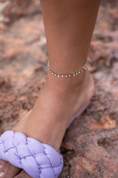 Pastel colors anklet