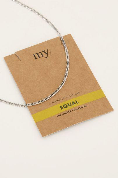 Equal ketting platte schakel | My Jewellery