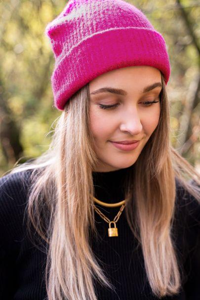 Hellrosa Mütze