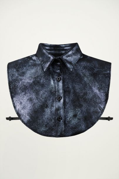 Dark Blue Glitter Collar