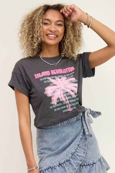 Grey T-shirt island revolution