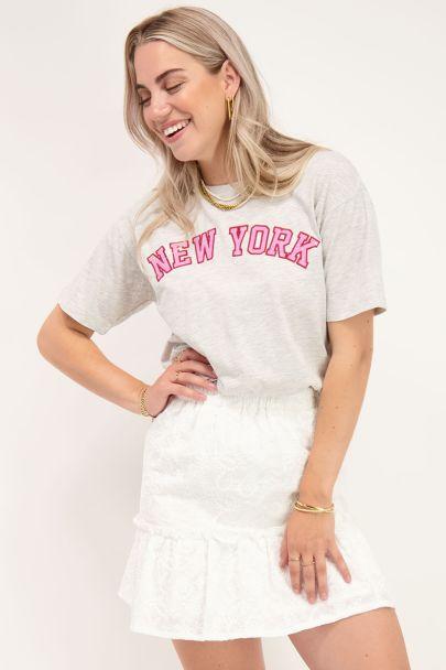 Grijs T-shirt New York