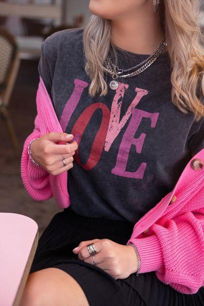 Grijs t-shirt love