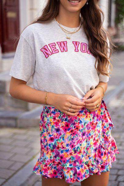 Grey New York T-shirt