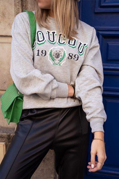 Grijze sweater coucou