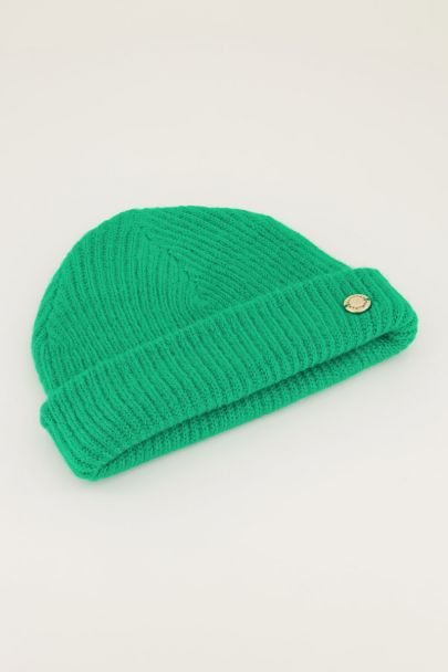 Groen gekleurde muts