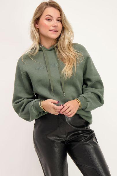 Groene Au Revoir hoodie