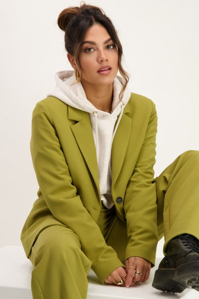 Groene blazer oversized