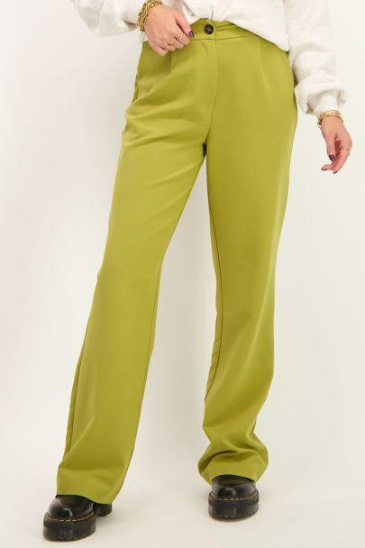Groene pantalon met zakken