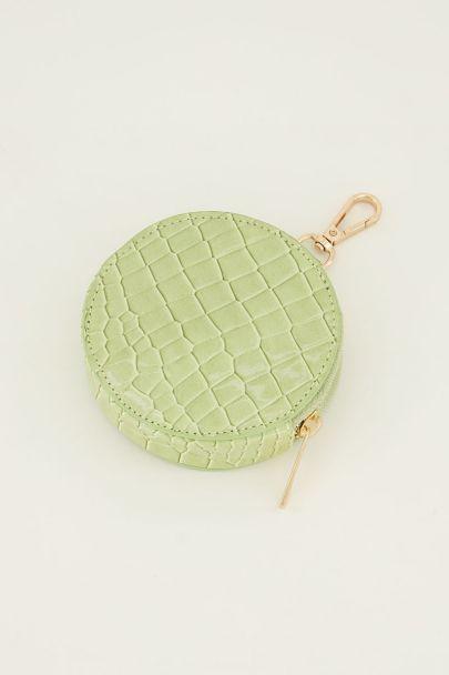 Groene portemonnee rond