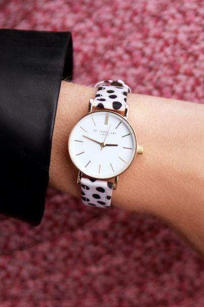 Cheetah horloge wit