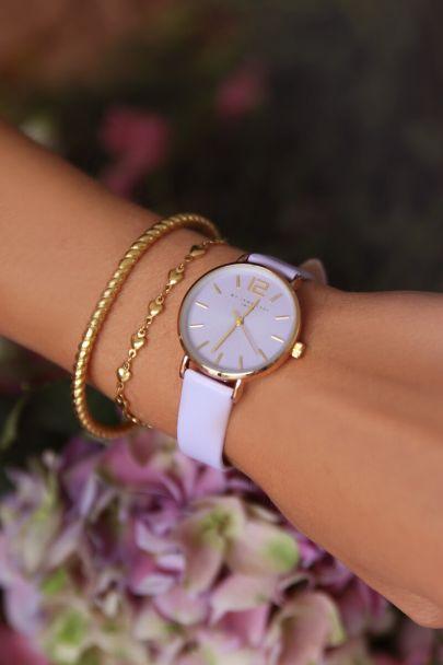Lila horloge
