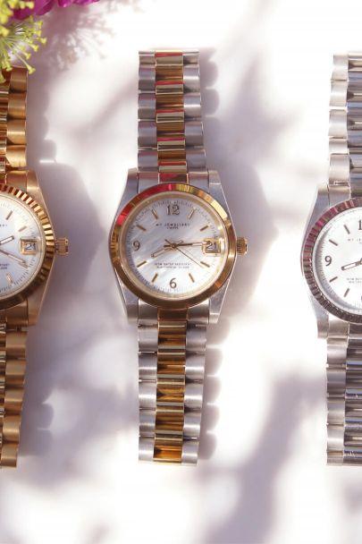 Bicolor horloge schakelband