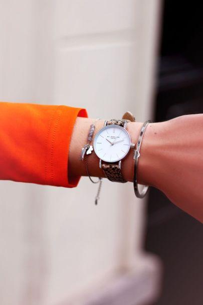 Horloge met slangenprint