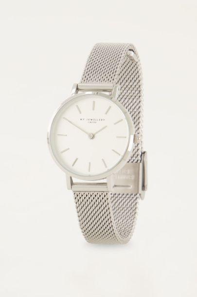 Horloge rond klokje & witte wijzers