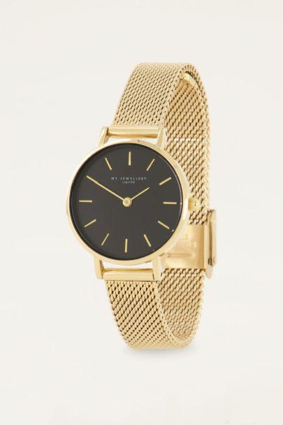 Horloge rond klokje & zwarte wijzers