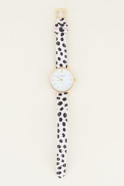 Cheetah horloge wit | Dames horloge My Jewellery