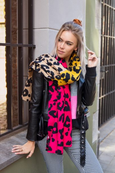 Sjaal gekleurde panterprint