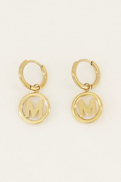 Oorbel initial rond | My Jewellery