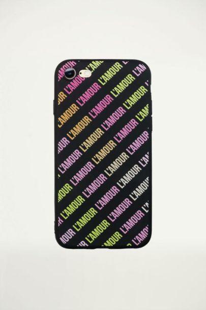 Amour iPhone case - Black