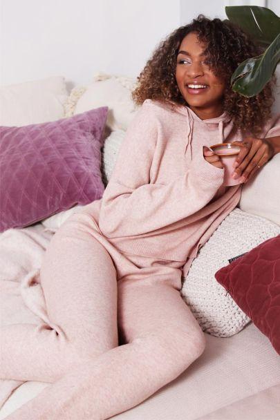 Roze homewear joggingbroek