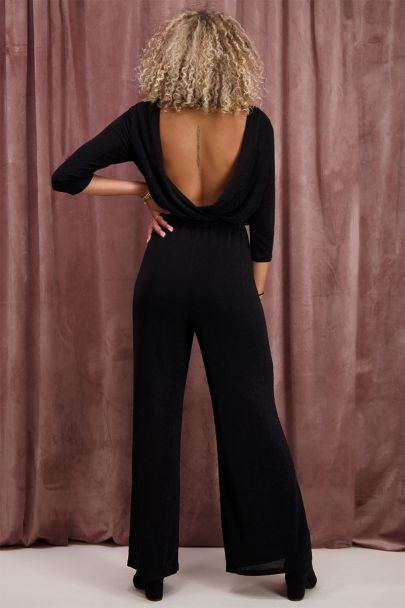 Zwarte jumpsuit met lurex