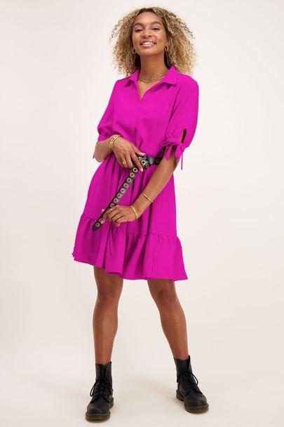Roze wijdvallende jurk