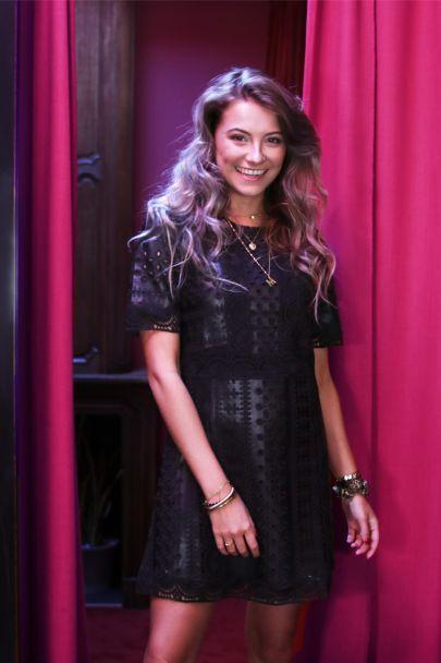 Leatherlook jurk met kant