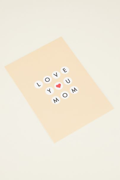 Mom postcard | My Jewellery kaartje