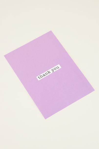 Thank you postcard | My Jewellery kaartje
