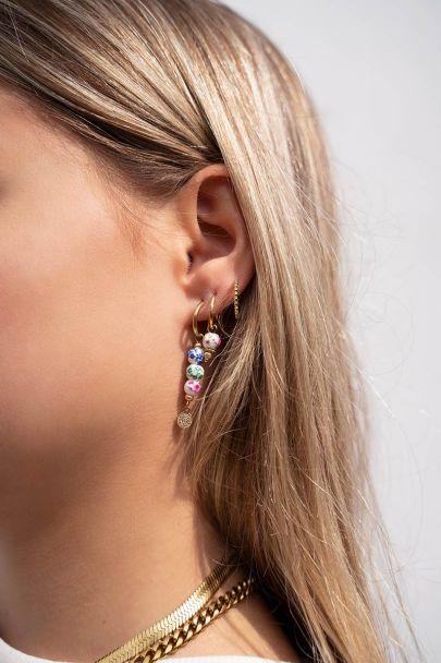 Keramiek oorbellen met kralen