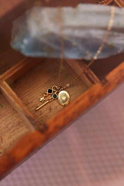 Necklace Black Onyx & Malachite