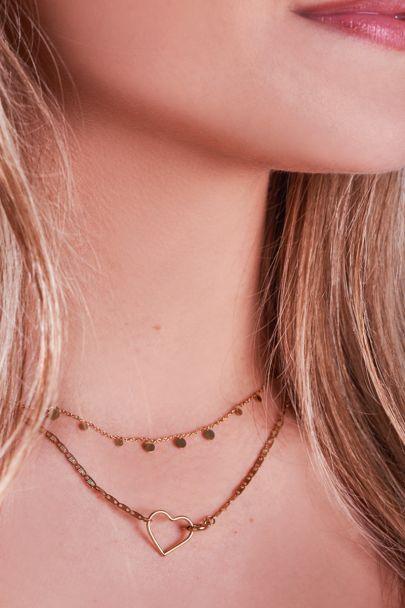 Halskette mit Herzverschluss