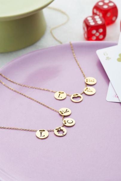 Halskette mit Love-Ringen