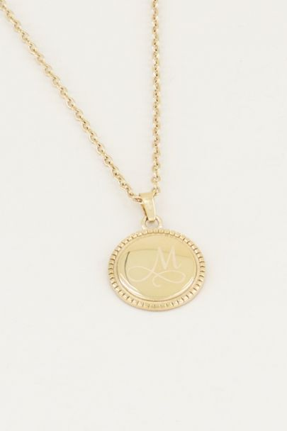 Ketting initial munt, ketting met letter My Jewellery