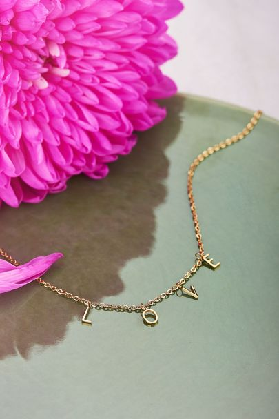 Buchstaben-Halskette Liebe