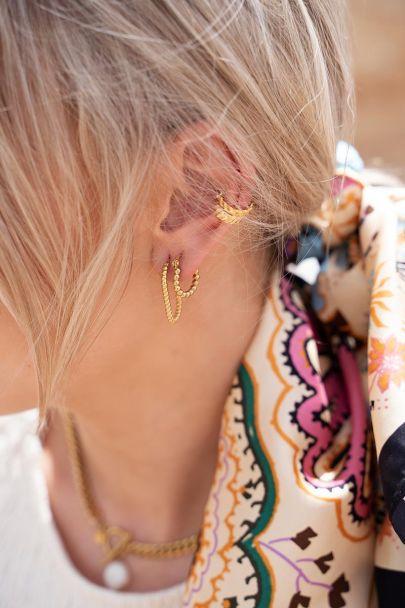 Hoop earrings small beads