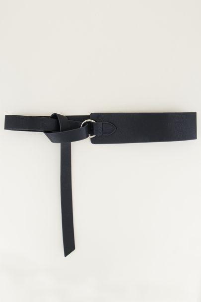 Tailleriem met knoop | Tailleriem in zwart bij My Jewellery