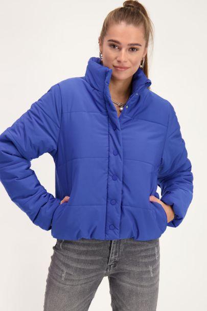 Kobaltblauw puffer jacket