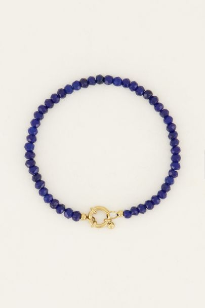 Kralen armband met goudkleurig slotje