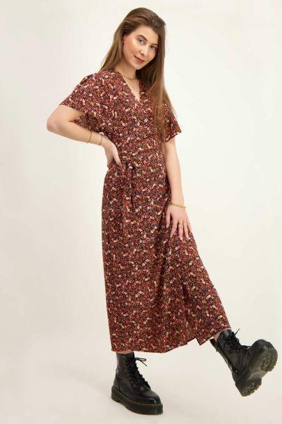 Bloemenprint midi jurk