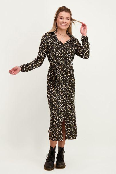 Floral print blouse dress