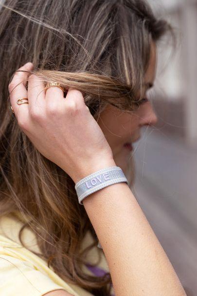 Light blue bohemian love bracelet