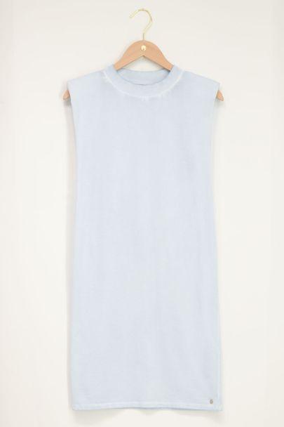Lichtblauwe T-shirt jurk