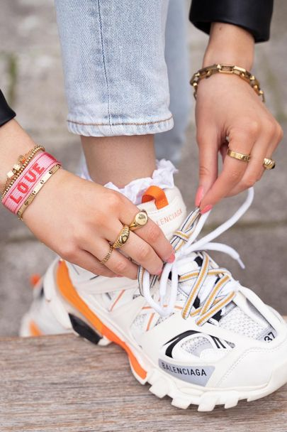 Lichtroze armband love