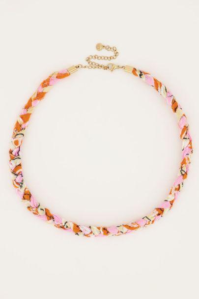 Lichtroze ketting sunrocks gevlochten | My Jewellery