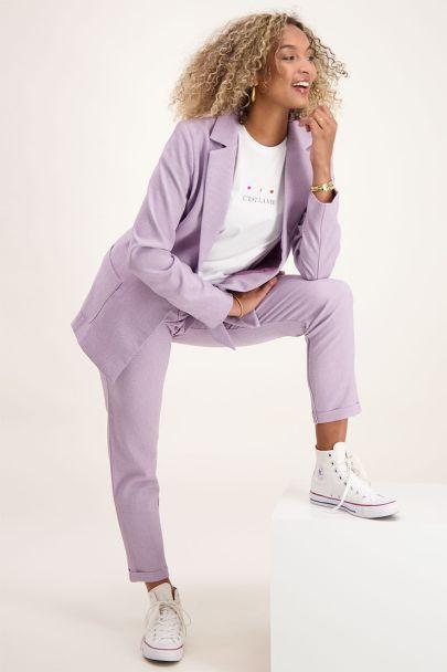 Lila blazer casual