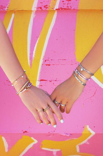 Lilac forever connected bracelet