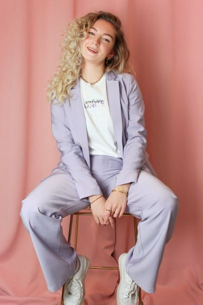 Lilac trousers